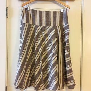 GAP Linen A Line Lined Skirt Size 10